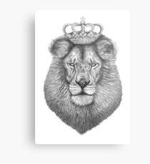 Lienzo metálico El rey
