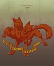 Wolves with Ribbons calendar cover by Zelaphas