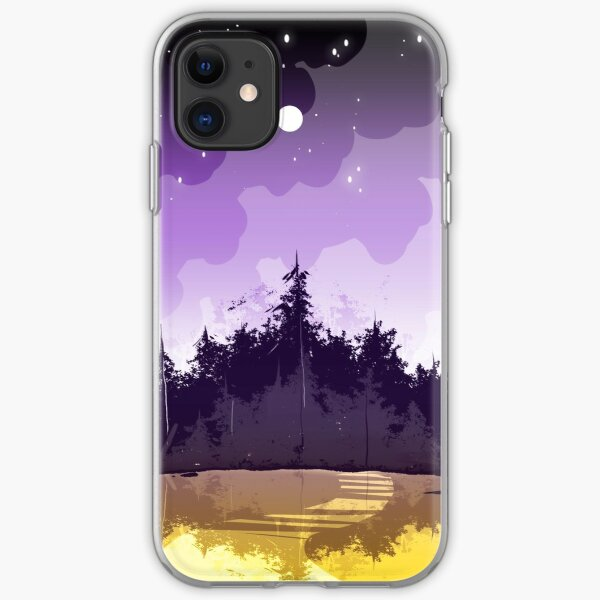 nonbinary pride forest iPhone Soft Case
