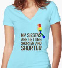 Tiki Room Siestas Women's Fitted V-Neck T-Shirt