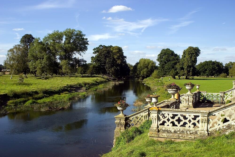 Charlecote Park - river view. by GCAPARO