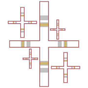 Striped Crosses by PharrisArt
