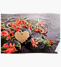 Heart Of Calm - Freesias And Stones Poster