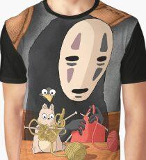 Spirited Away - Boh and No Face Knitting Graphic T-Shirt