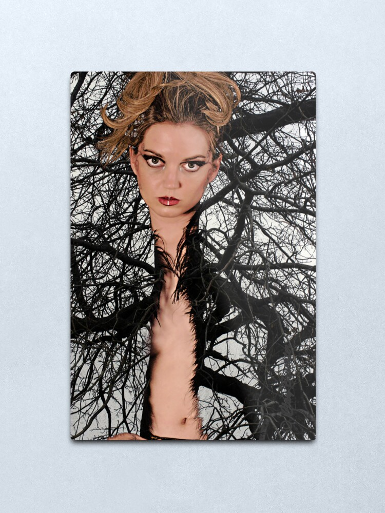 Alternate view of Tree'd Metal Print