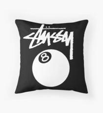 Stussy Eight Ball Inverse  Throw Pillow