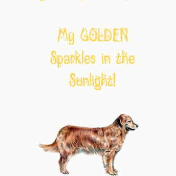 Golden Retrievers Sparkle by musicaficta