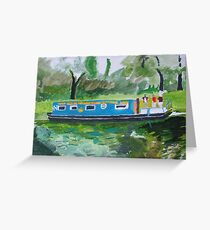 barge, cast off Greeting Card