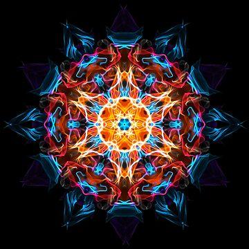 Energy Mandala of Silent Reflection - Sacred Geometry Meditation Focus  by LeahMcNeir