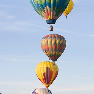Stacked Hot Air Balloons #2504 by JohnZawacki