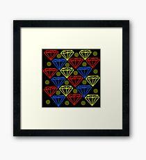 Diamond Patterned Framed Print