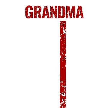 Proud Grandma Thin Red Line Firefighter Shirt by Dmurr