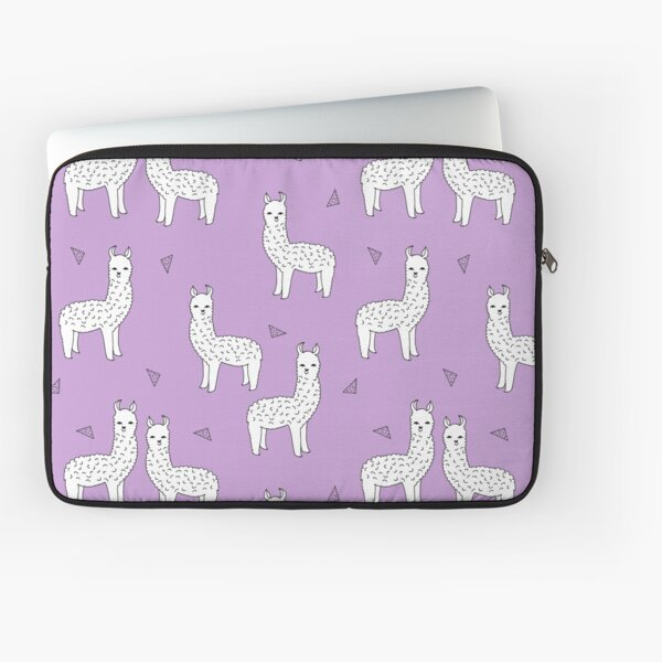 Alpaca - Wisteria Purple by Andrea Lauren Laptop Sleeve