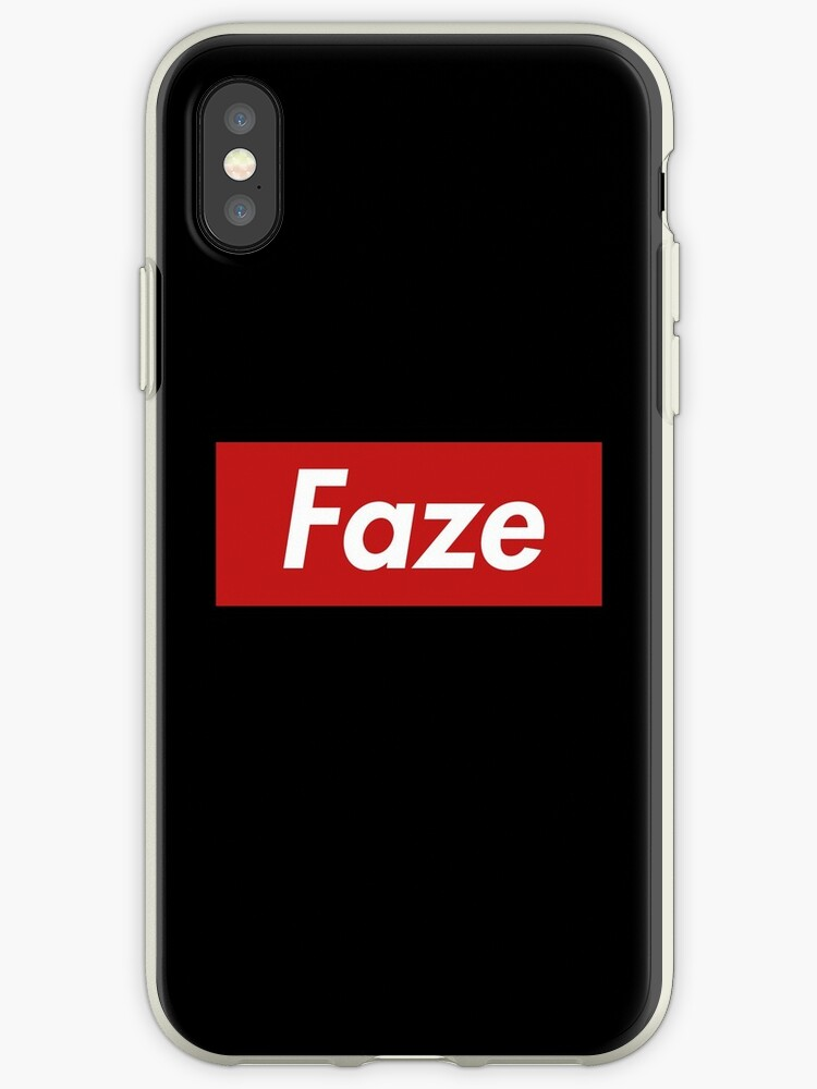 faze red iphone cases covers by esports merch redbubble