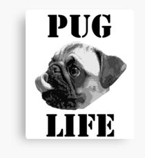 Pug Life (Cute Pug Dog with Curled Tongue) Canvas Print