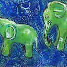 Jade Elephants by Maria Pace-Wynters