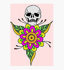 BRIGHT FLOWER SKULL Photographic Print