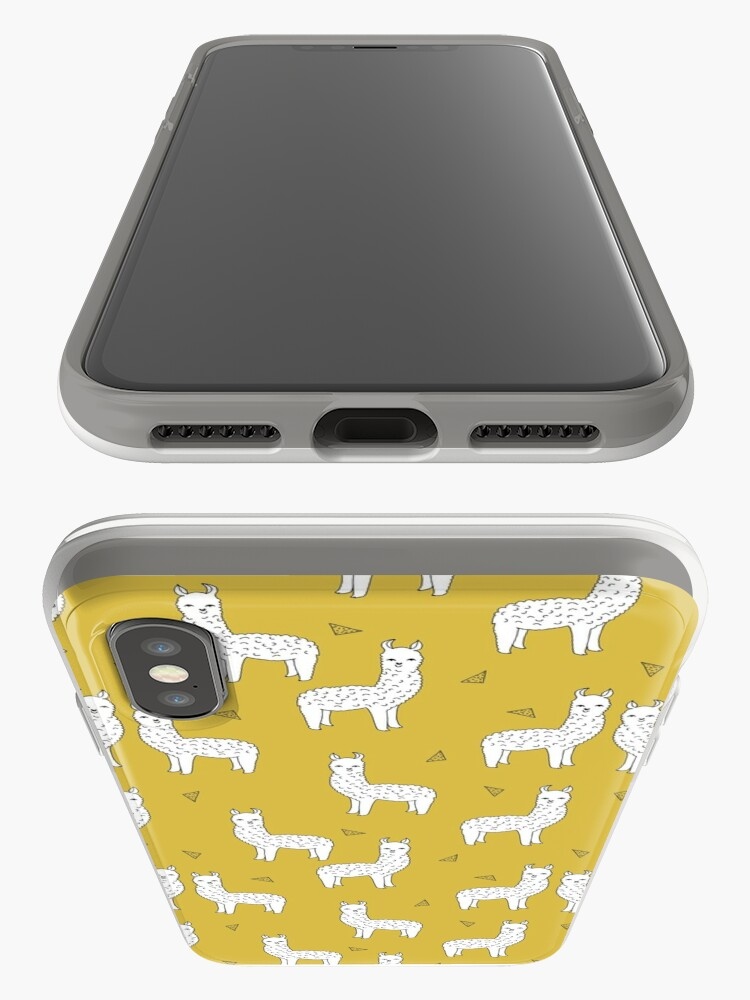 Alternate view of Alpaca - Mustard by Andrea Lauren iPhone Case & Cover
