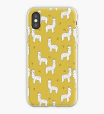 Alpaca - Mustard by Andrea Lauren iPhone Case