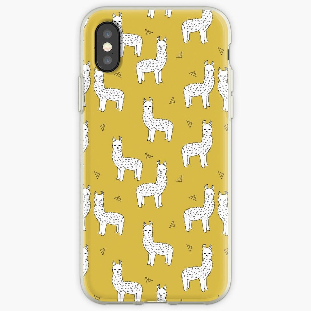 Alpaca - Mustard by Andrea Lauren iPhone Case & Cover