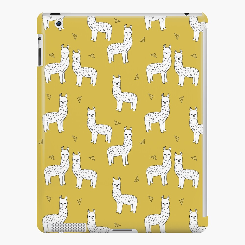 Alpaca - Mustard by Andrea Lauren iPad Case & Skin