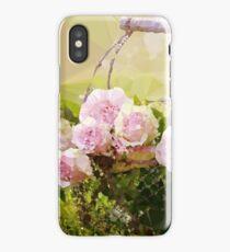Pink Roses Floral Landscape Low Poly Art iPhone Case/Skin