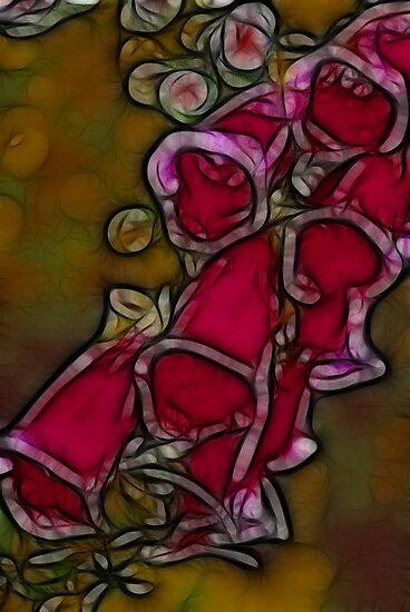 Foxgloves by Trevor Kersley