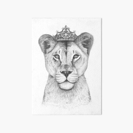 The Queen Art Board Print