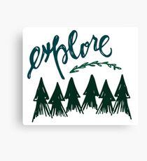 explore... Canvas Print