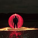Light Painting Beach by Ben Rees