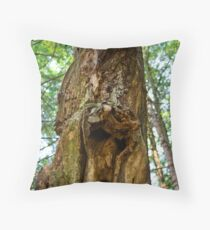 if a tree in the forest screams... Throw Pillow