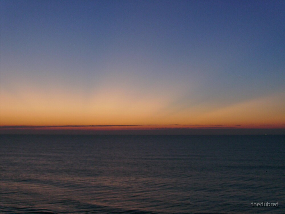 Sunday Morning Sunrise Beginning - Myrtle Beach, SC by thedubrat