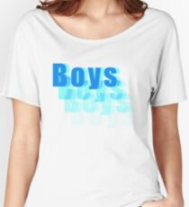 Boys Fade Out Typography  Women's Relaxed Fit T-Shirt