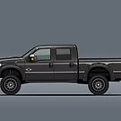 Detroit Black Lifted F-Superduty Truck by Tom Mayer