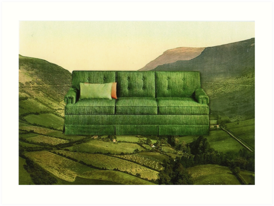 Green Couch by Mikhail Siskoff