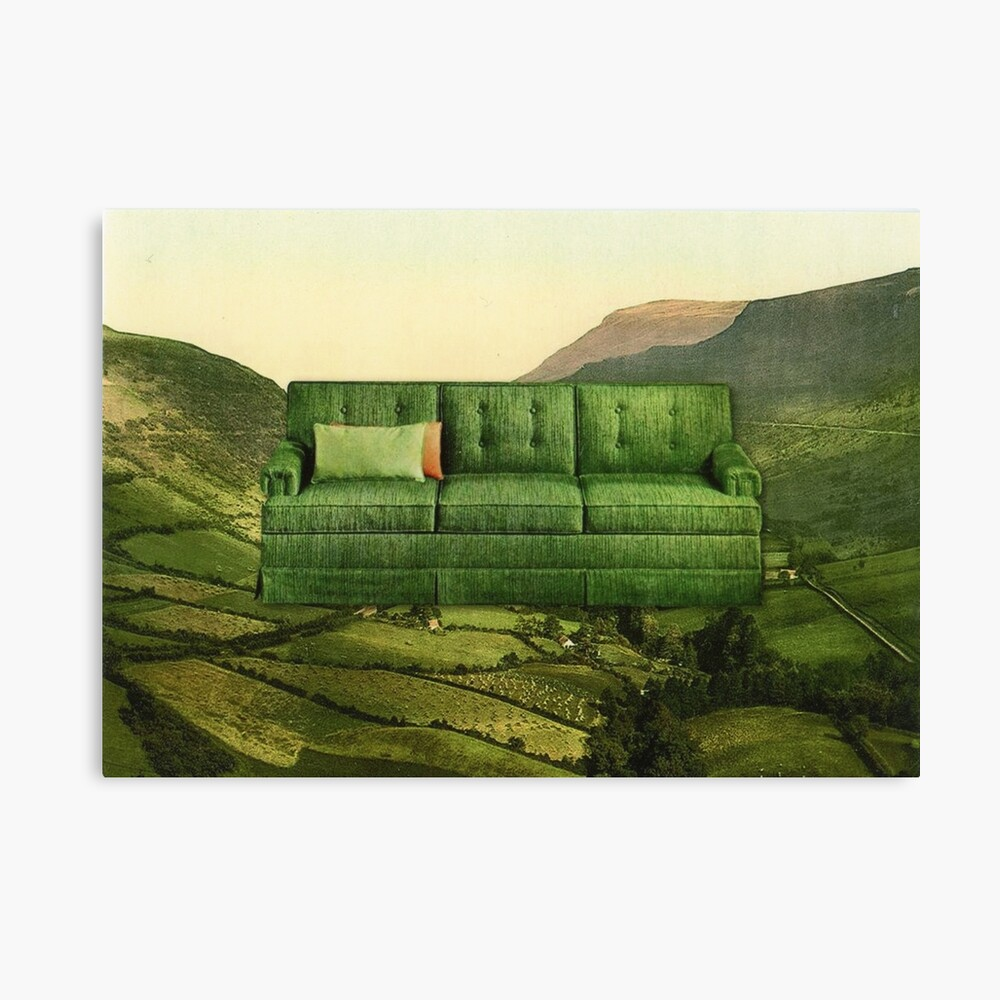 Green Couch Canvas Print