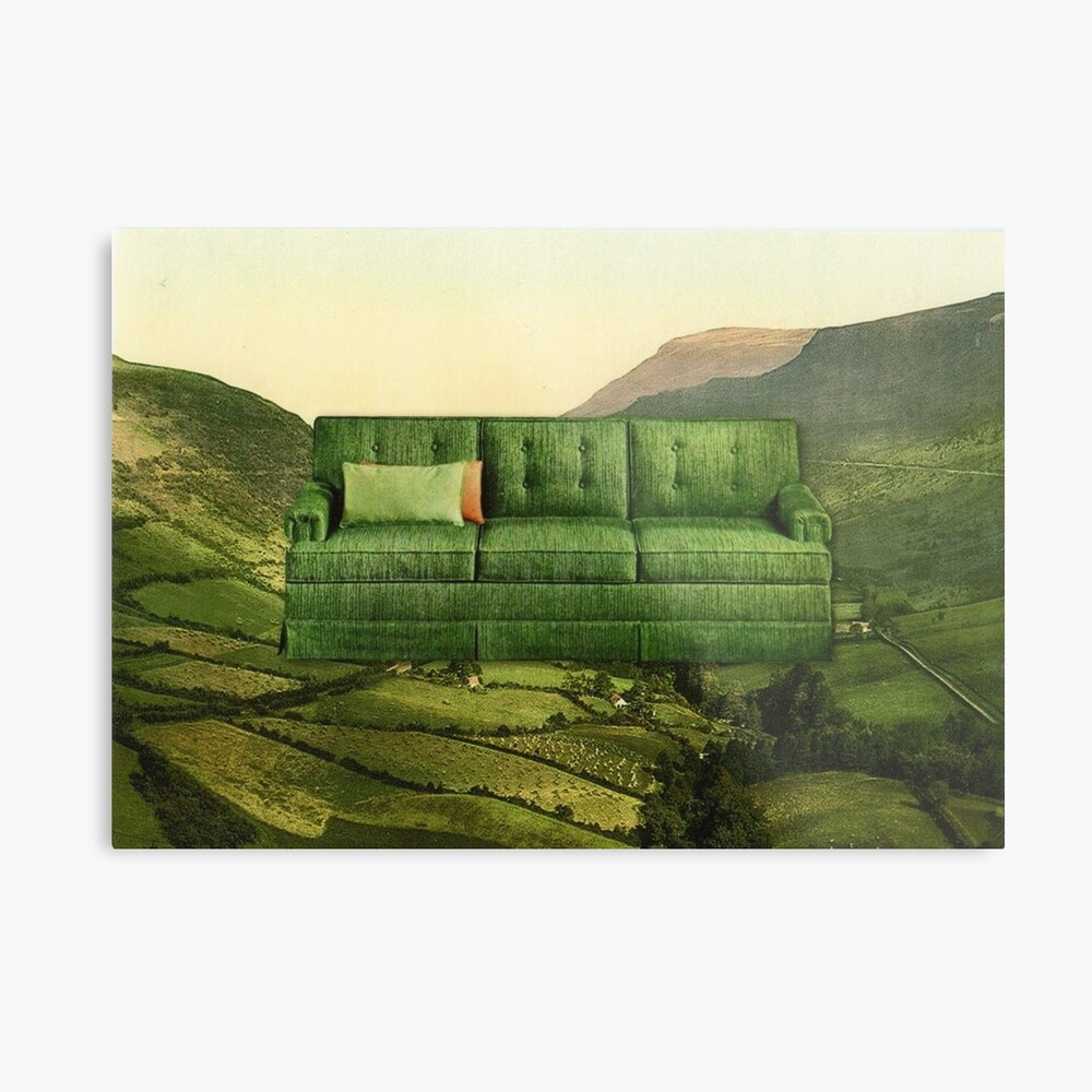 Green Couch Metal Print