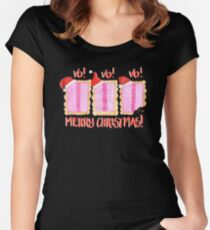 Iced VoVo - VO VO VO! Merry Christmas! Women's Fitted Scoop T-Shirt