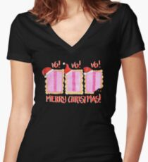 Iced VoVo - VO VO VO! Merry Christmas! Women's Fitted V-Neck T-Shirt