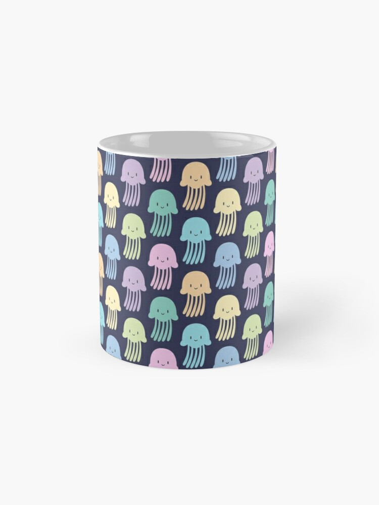 Alternate view of Cute colorful jellyfishes Mug