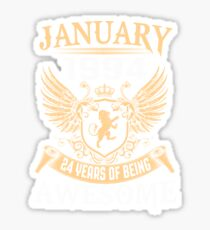 Born In January 1994 24 Years Of Being Awesome Sticker