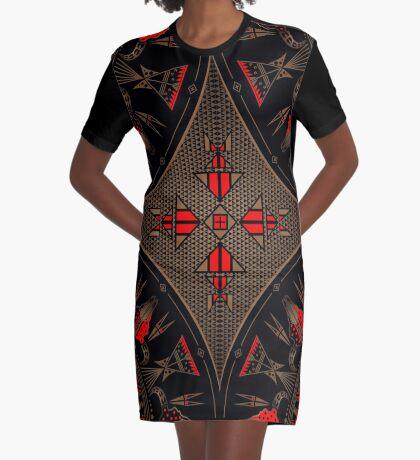Buffalo Gathering Graphic T-Shirt Dress