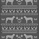 Ugly Christmas sweater dog edition - Finnish hound - Suomenajokoira by Camilla Mikaela Häggblom