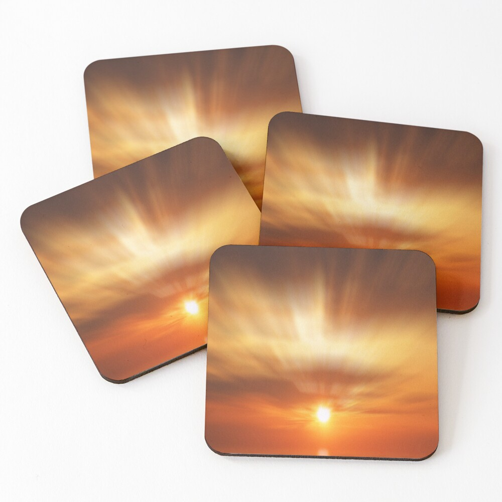 A golden dawn  Coasters (Set of 4)