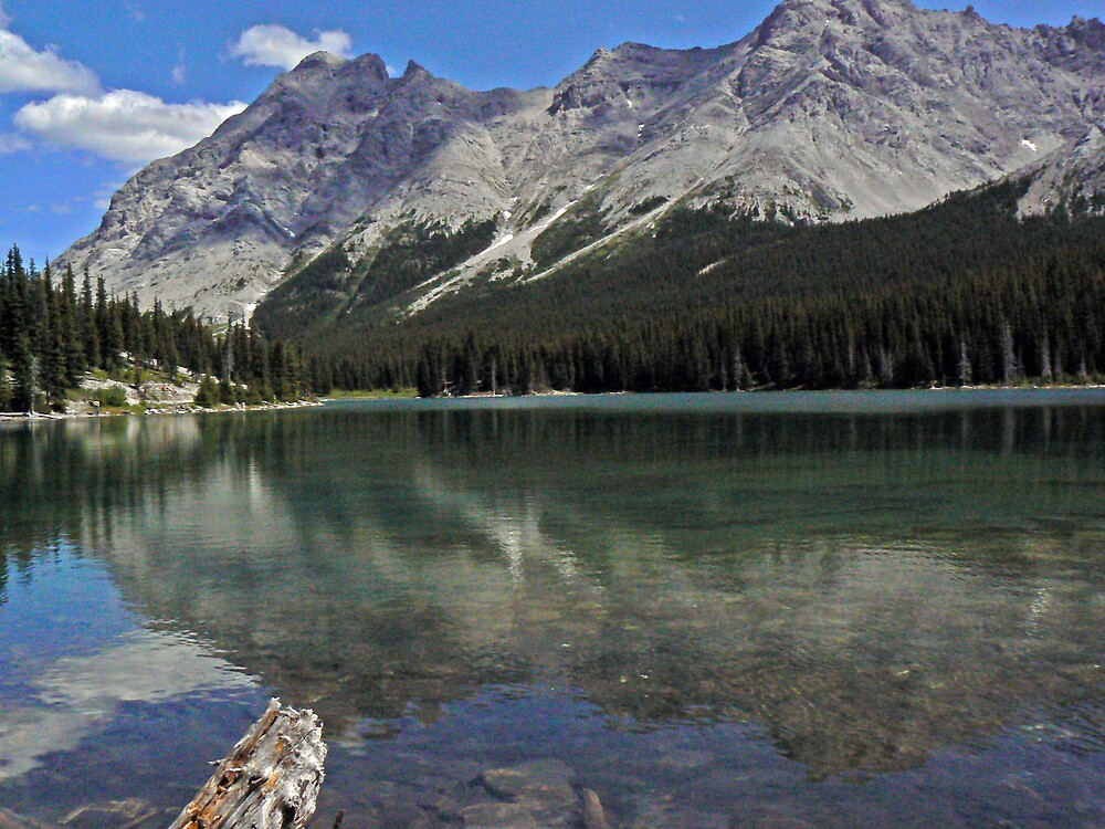 Refections on Elbow Lake by BRIAN LEWIS