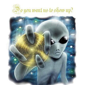Gray Alien Message Extraterrestrial by AnderArtes