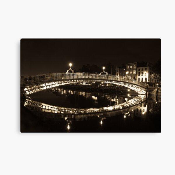Dublin's Ha'penny Bridge Canvas Print