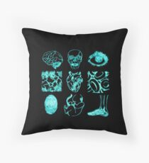 Glowing Bacterial Art - Anatomy Throw Pillow