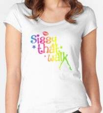 sissy that walk Women's Fitted Scoop T-Shirt