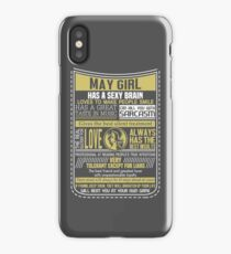 May Girl iPhone Case/Skin
